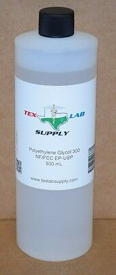 Tex Lab Supply Polyethylene Glycol 300 Peg 300 Nf-fccep-usp 500 Ml