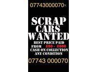 We buy all vehicles scrap mot failures unwanted