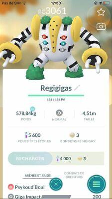 Pokémon Go Compte - Account + Regigigas High PC !!!!