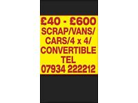 Scrap cars wanted for cash Huddersfield