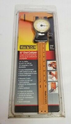 Empire 2787 0-6 15.24cm Inch Plastic Dial Calipers .01 64ths Made In Usa