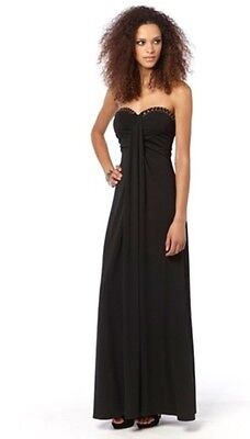 womens Strapless Stud Maxi Dress By Adore black or cream