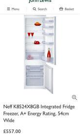 Neff K8524X8GB Integrated Fridge Freezer NEW
