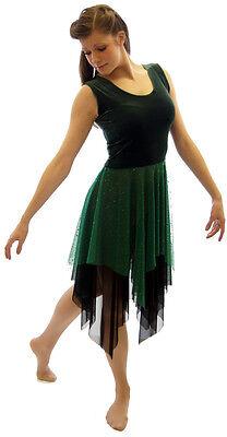 GREEN MIDSUMMER NIGHT'S DREAM FOREST FAIRY-Lyrical-Dance-Dress  ALL SIZES