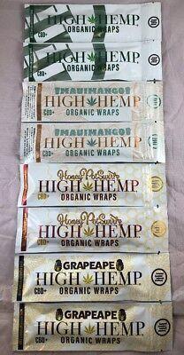 FREE GIFTS🎁+8x High Hemp Organic Natural Wraps PineApple🍍Cherry🍒Banana🍌Berry Natural Pineapple Banana