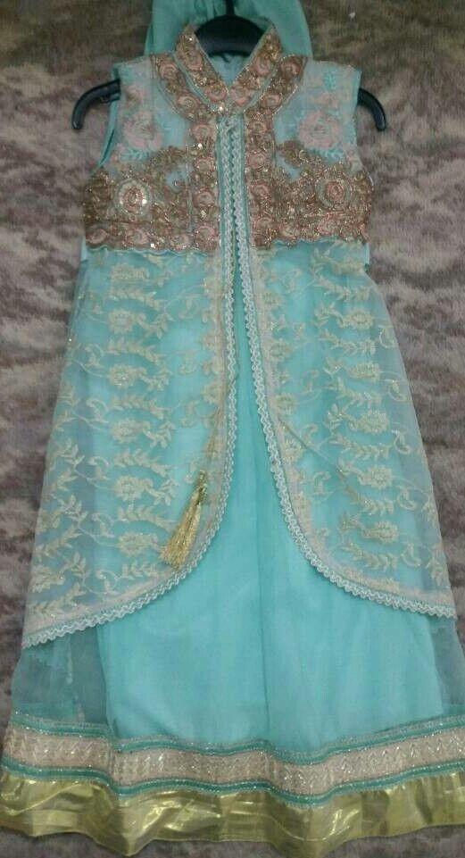 Asian clothes (Anarkali churidar pajama dress)