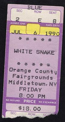 1981 Whitesnake Concert Ticket Stub Middletown NJ Slip of the Tongue Coverdale