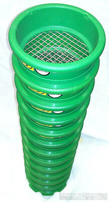 Mini Small 4 inch Stackable Classifier Sieve Set of 12 Steel Mesh with lids