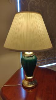 Green Gold Table / Desk / Bedside Lamp