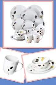 12 Piece Dinner Set with 4 Free Mugs