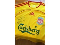 Liverpool FC 2006-07 'S' strip signed by Steven Gerrard