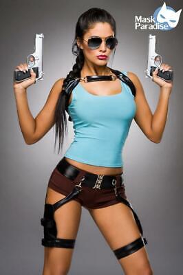 Sexy Gamer Girl Kostüm Komplettset Lara Top Hotpants - Gamer Girl Kostüme