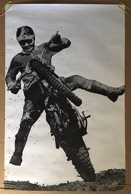 Super Jump Original Vintage Poster Motocross Dirt bike Rider Pin-Up Photo Pic
