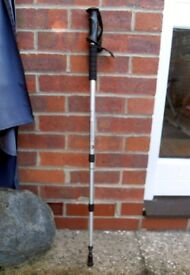 Straight Handle Adjustable Antishock Trekking/Hiking Walking Stick Pole (one)
