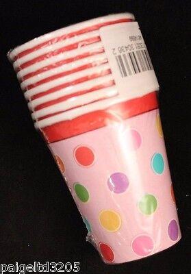 Designware Sweet Stuff CupCake Polka Dots Hot/Cold Cups 9 oz X 24 - Birthday Stuff