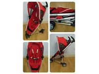 Red quinny zapp compact fold with raincover