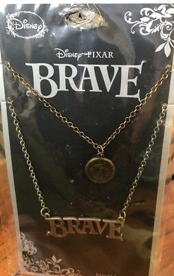 HOT TOPIC DISNEY PIXAR BRAVE  PRINCESS MERIDA BEST FRIENDS PENDANT NECKLACE SET