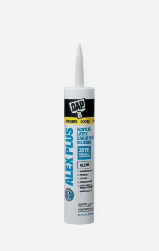 DAP ALEX PLUS White Acrylic All Purpose Caulk + Silicone  10.1 oz FREE SHIPPING