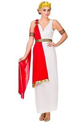 Glamorous Roman Lady Ancient Greek Goddess Toga Fancy Dress Costume XS to XL