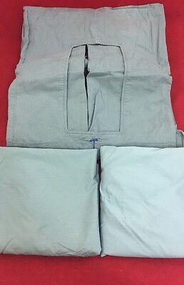 """Laparotomy Drape Surgical Linen Foil Pack No. 55, 1 74x94"""" Drape & 2 36"""" Wraps"""