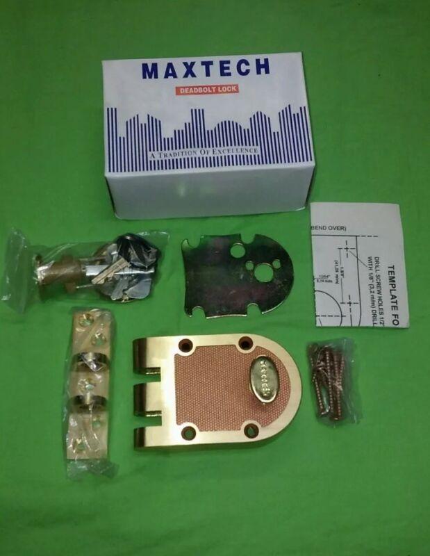 Jimmy-proof Deadbolt Lock Solid Brass best lock. MAXTECH