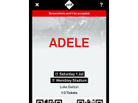 2 x Adele 1 July Wembley