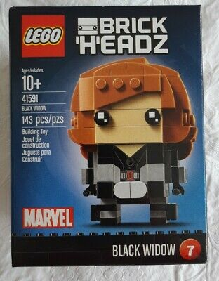 LEGO 41591 Marvel Super Heroes BrickHeadz Black Widow New Sealed Box Free Ship