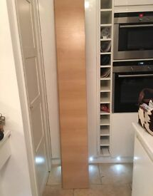 Two lengths shelving material