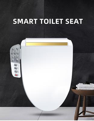 Elongated Toilet Seat Bidet White Smart Toilet Heated Seat Dryer Self Clean 695633203210 Ebay