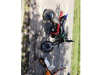 125cc brand new engine pit bike stomp frame and plastics not quad mini moto dirt bike scooter moped