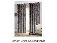 Opulence crushed velvet curtains