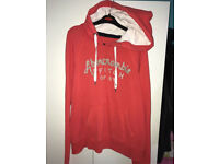 Abercrombie and Fitch hoodie salmon orange size large slim fit