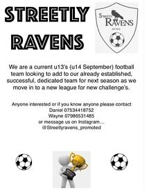Players wanted for already established successful team. Current u13's (u14's September )