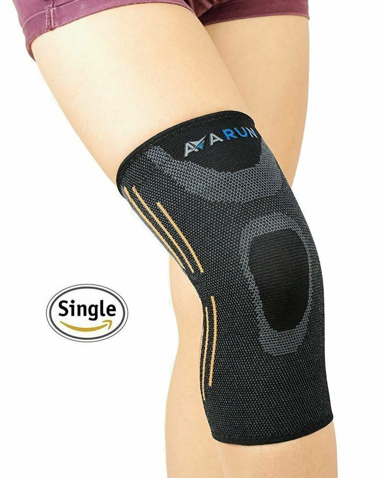 Knee Compression Sleeve Support Brace For Joint Tendon Pain