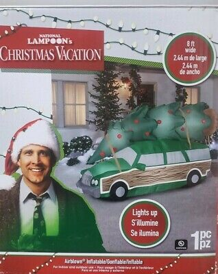 Gemmy 8ft Christmas Vacation Station Wagon with Tree Inflatable