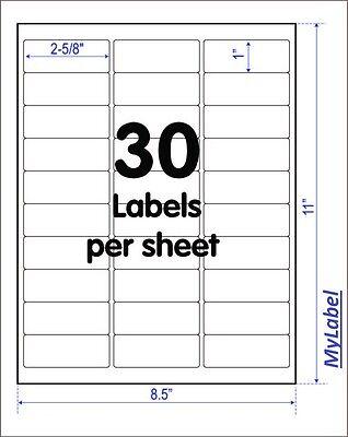 3000 Address Mailing Labels(2-5/8