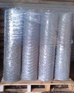 120cm HEX Mesh, Bird wire netting 50m roll 25mm hex - 0.9mm Toolern Vale Melton Area Preview