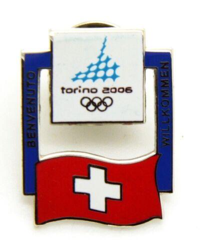 Pin Brooch Olympics Torino 2006 - Flags - Flag Switzerland, CM 2 x 2,5