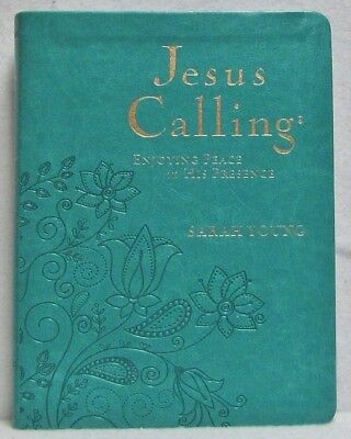 NEW Jesus Calling Sarah Young Teal Leatherflex  Devotional Large Print Deluxe - Deluxe Printing