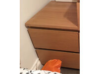 Ikea side table with 2 draws