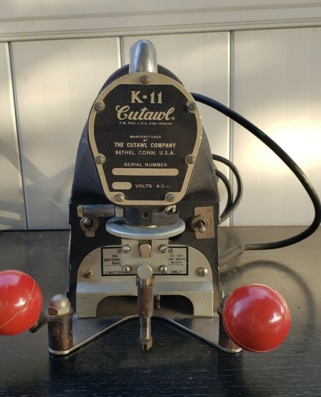 Vintage CUTAWL K-11 PATTERN MAKER SCROLL SAW Jig Tool USA Works