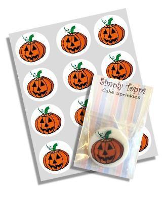 12 citrouille Halloween Cake Toppers décoration Comestible de gateau découpe