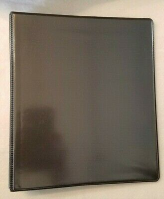New 9x7 Half Size 3 Ring Binder 1 Capacity - Black Pack Of 3