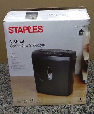 Staple 8-sheet Cross-cut Shredder Spl-nxc83a 111454-1 Jo Loc N-4