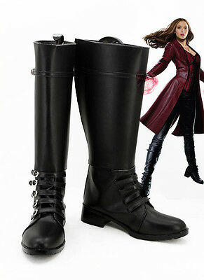 Captain Scarlet Kostüm (Captain America Civil War Scarlet Witch Stiefel Schuhe shoes boot Kostüm Cosplay)