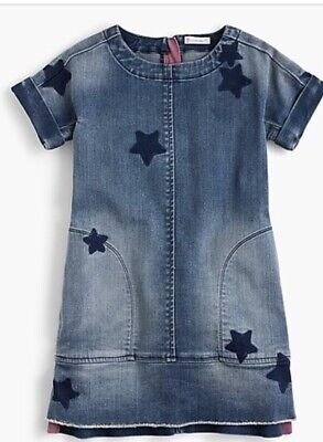 Girl Clothes Online (Crew Cuts Girls Star Print Denim Dress 3T! Excellent! Sold out)