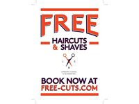 FREE MEN'S HAIRCUTS & SHAVES