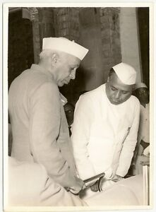 India-original-1960-Jawarharlal-Nehru-4-5-x-6-photo-J