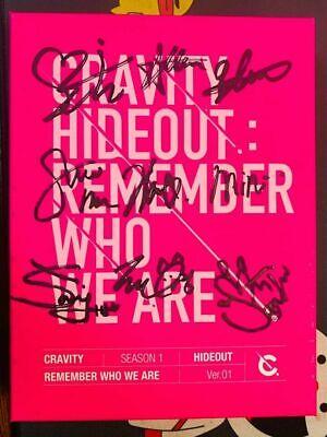 CRAVITY HIDEOUT Autograph ALL MEMBER Signed PROMO ALBUM KPOP signature