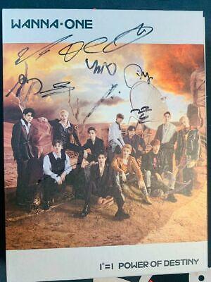 WANNAONE POWER OF DESTINY ALL MEMBER Signed PROMO ALBUM KPOP signature